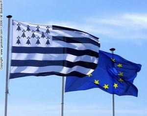 Gwen ha du et drapeau européen