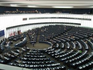 Parlement Européen  à Strasbourg 04 - Bâtiment Louise Weiss, Strasbourg, Alsace, France.