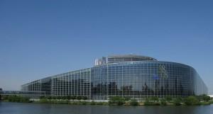 Parlement Européen  à Strasbourg 06 - vue générale, Strasbourg, Alsace, France.