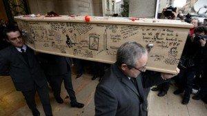 Cercueil de Tignous le 15 janvier 2015 02