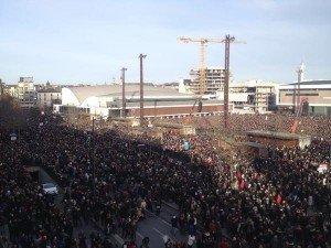Rennes le 11 janvier à 15 esplanade du Gal DeGaulle devant le Liberté 04