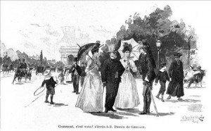 FIN XIX ème siècle l'ombrelle est toujours considérée comme féminine .