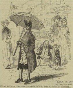 Jonas Hanway et son parapluie 01