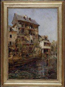 Maison de Cadet Rousselle peinte par Jules NOEL vers 1860