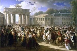 Le quatrige de la porte de Brandebourd à Berlin