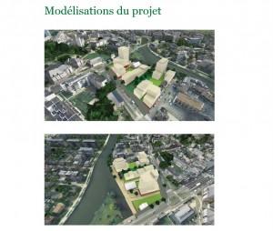 Modélisation du projet de l'Octroi décidé le 16 avril 2015