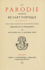 L'art Poétque pamphlet 01
