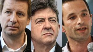 Yannick JADOT, Jeéan-Luc MELANCHON et Benoît HAMON