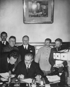 MolotovRibbentropStaline le 28 septembre 1939